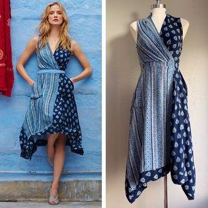 [Maeve] Eclipsed Wrap Dress